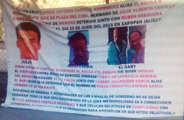 """En narcomantas acusan a empresario levantado de ser """"El Aguila"""" un jefe de plaza pesado del CJNG"""