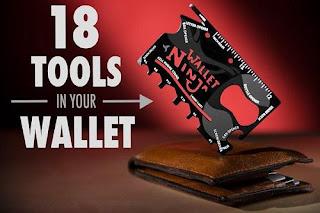 jual barang unik murah surabaya, harga barang unik, peluang usaha reseller barang unik, Wallet Ninja 18in1, Wallet Ninja