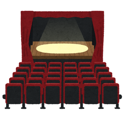 劇場のイラスト(室内)