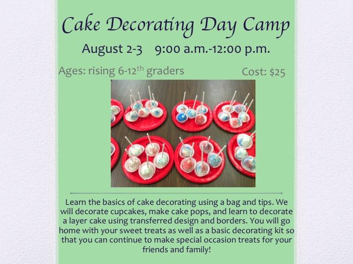 Cake Decorating Store Orange Ca : 4-H in Orange County, VA: Cake Decorating Day Camp
