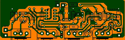 pcb efek gitar sam distortion