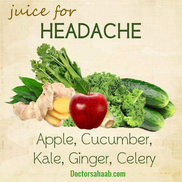 Juice for Headache (Apple+Cucumber+Kale+Ginger+Celery)