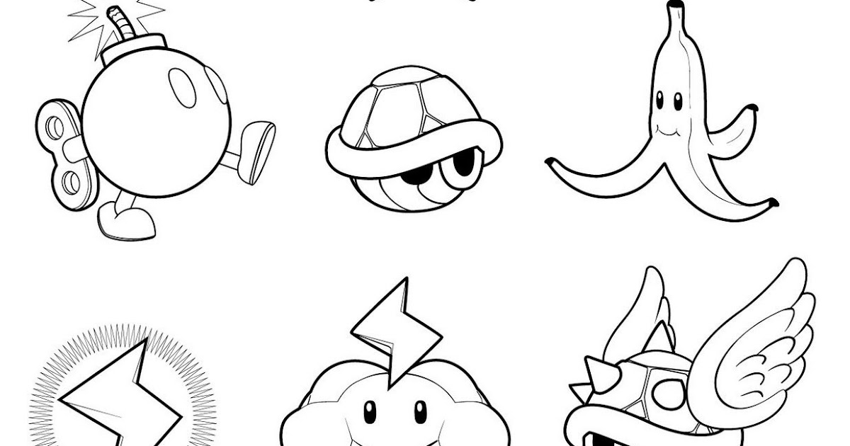 Dibujos Para Colorear De Yoshi: Dibujos Para Colorear Faciles De Mario Bros