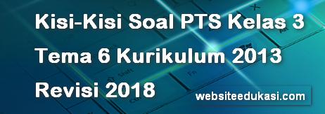 Kisi-Kisi PTS/UTS Kelas 3 Tema 6 K13 Revisi 2018