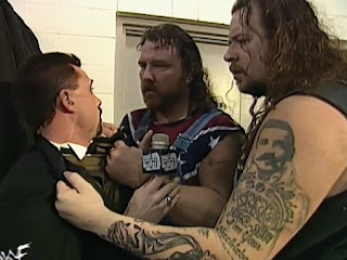 WWE / WWF Royal Rumble 1998 - The Godwins demand Michael Cole tell them where Steve Austin is