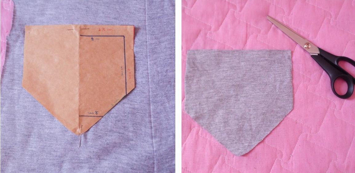 Como fazer bolso aplicado para camiseta - DIY