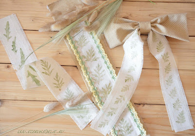 отпечатки растений на ткани
