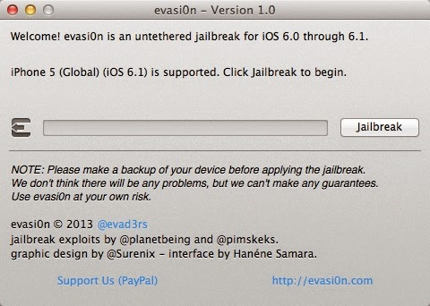 How to Untethered Jailbreak iPhone5 on 6.1 using Evasi0n