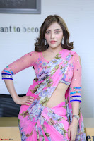 Actress Angela Krislinzki in Pink Saree Blouse Exclusive Pics March 2017 ~  091.JPG