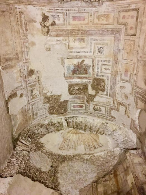 Restoration works in the Room of Achilles at Nero's Golden House completed