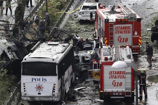 11 dead as terrorist attack hits police bus in Istanbul, Turkey