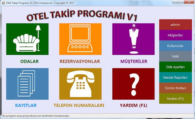 C# Otel Rezervasyon Otomasyonu - Programı Ücretsiz İndir