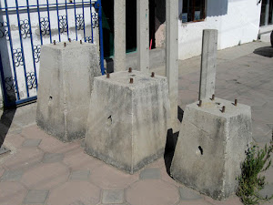 Bloque de concreto para protección contra impacto