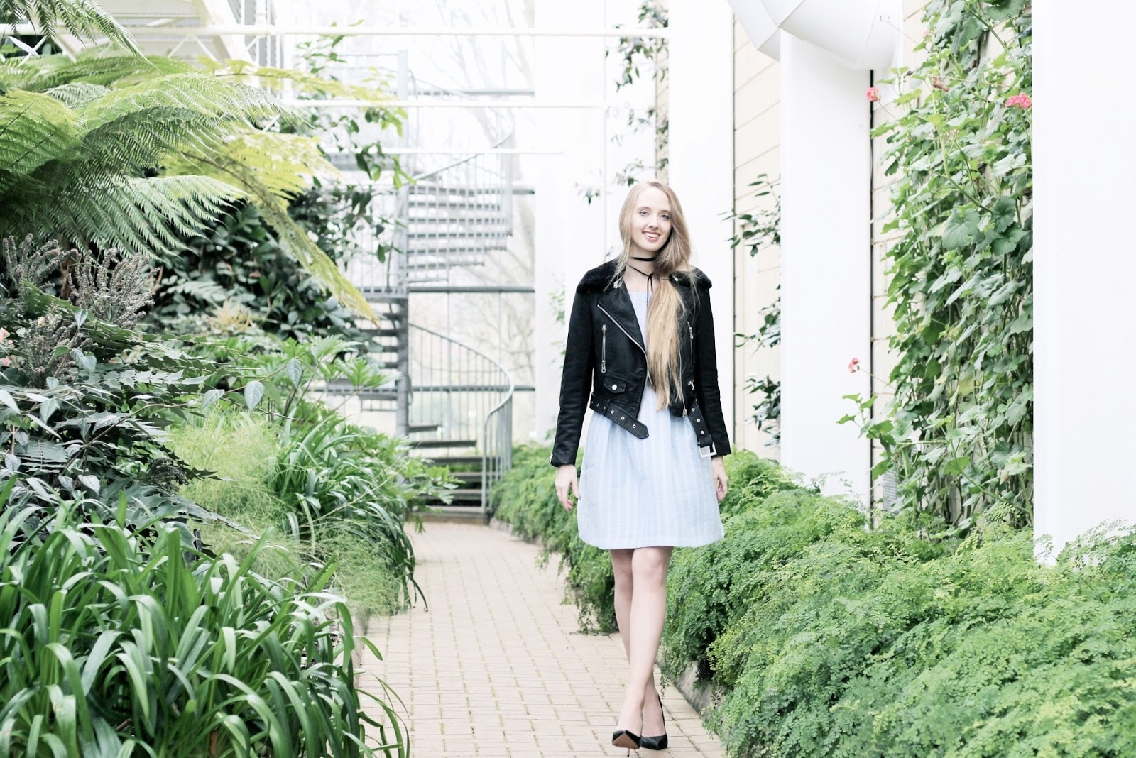 Fashion blog styling spring clothing in winter