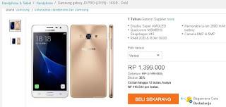 Samsung Galaxy J3 Pro dengan RAM 2 GB dan ROM 16 GB Harga April 2017