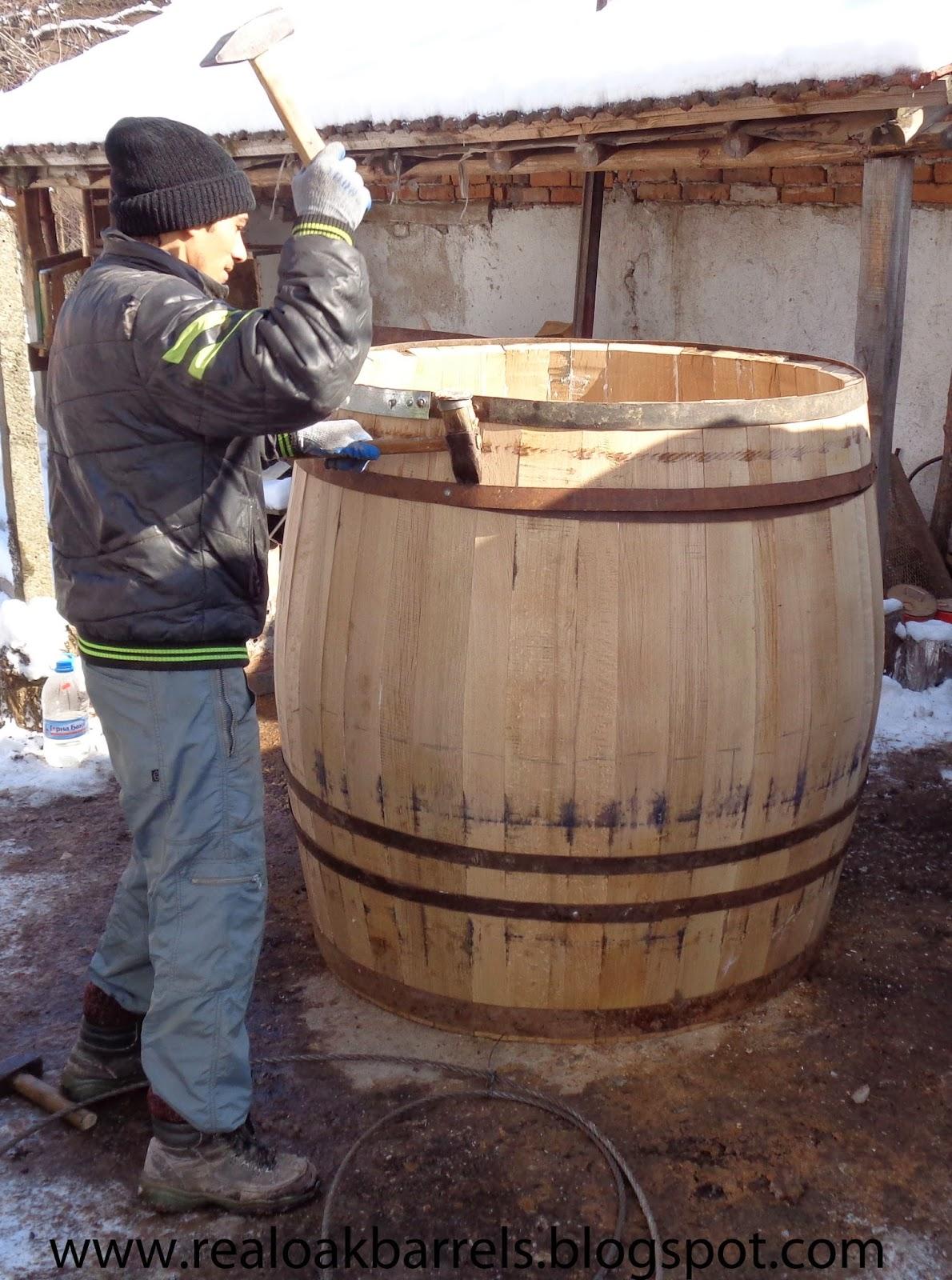 Real Oak Barrels 1000 Litres Oak Barrel