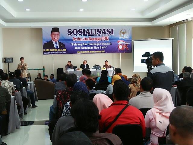 H. Amin Santono Gelar Sosialisasi Otoritas Jasa Keuangan Terkait Jasa Keuangan Non Bank