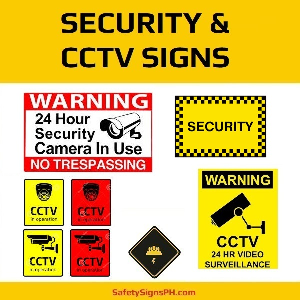 Security & CCTV Signs Philippines