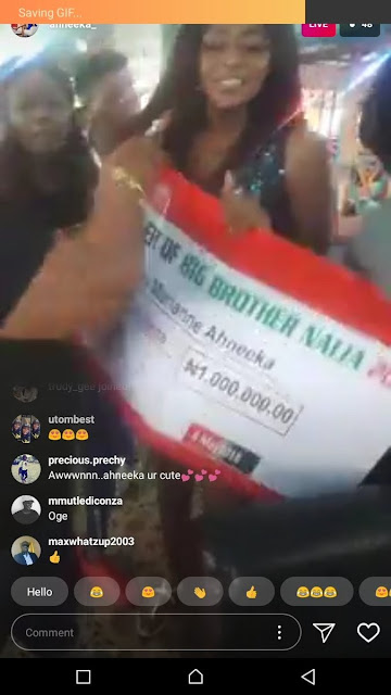 Ahneeka's Fans Present Her A Gift Of 1 Million Naira