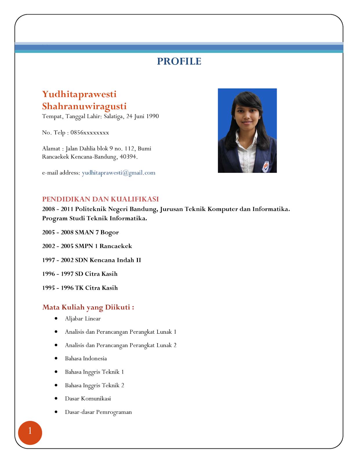 Cv Accounting Dalam Bahasa Inggris Resume Examples For