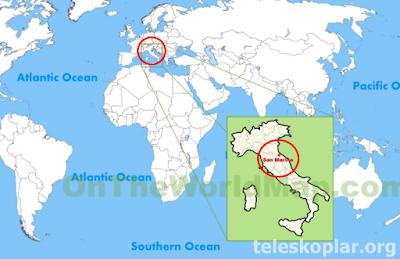 San Marino haritası