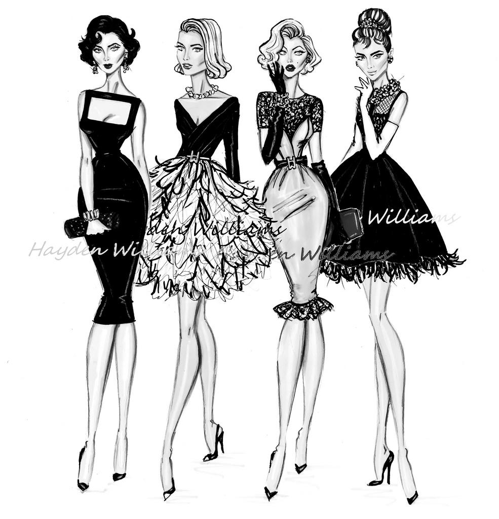 Hayden Williams Fashion Illustrations: Iconic Women