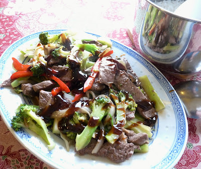 Stir-Fried Beef with Broccoli, Shiitakes & Oyster Sauce