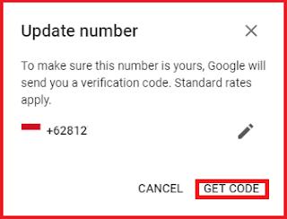 Cara Mengganti Merubah Nomor Hp Telepon di Gmail