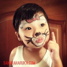 Sakura Haruka Singapore Parenting And Lifestyle Blog Kids Face Painting Cute Kitty Cat ネコネコ