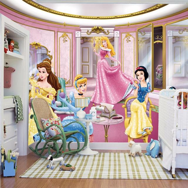 Tapetti Lastenhuoneeseen Prinsessa prinsessoja Valokuvatapetti Lapsia tyttö huoneen tapetti lasten tapetti lastenhuone tapetti