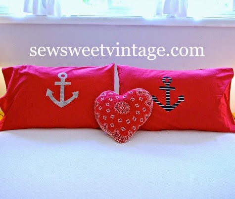 diy anchor pillows