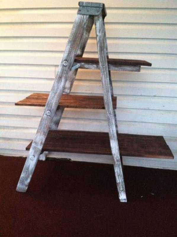 Mueblesdepaletsnet Escalera estantera con palets