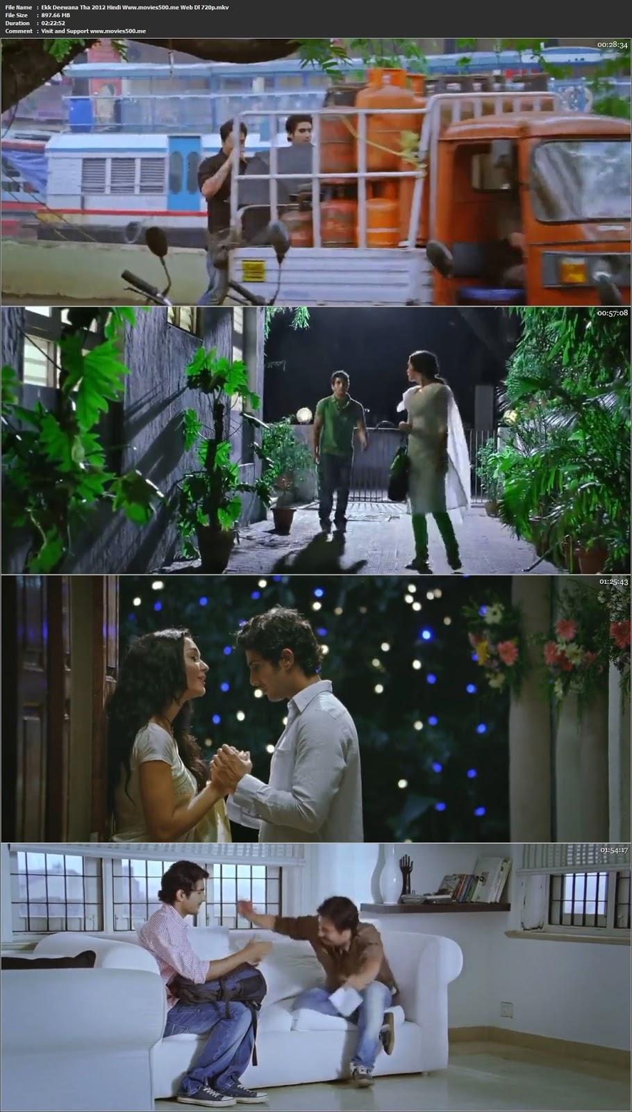Ekk Deewana Tha 2012 Hindi 900MB WEB DL 720p at movies500.site