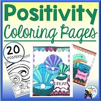 positivity coloring pages