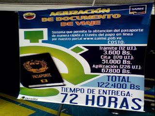 Saime agilizar pasaporte venezolano, Nuevo y actualizado
