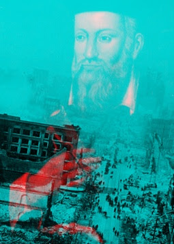 Artwork 3D Image of Nostradamus Destruction by Earthquake