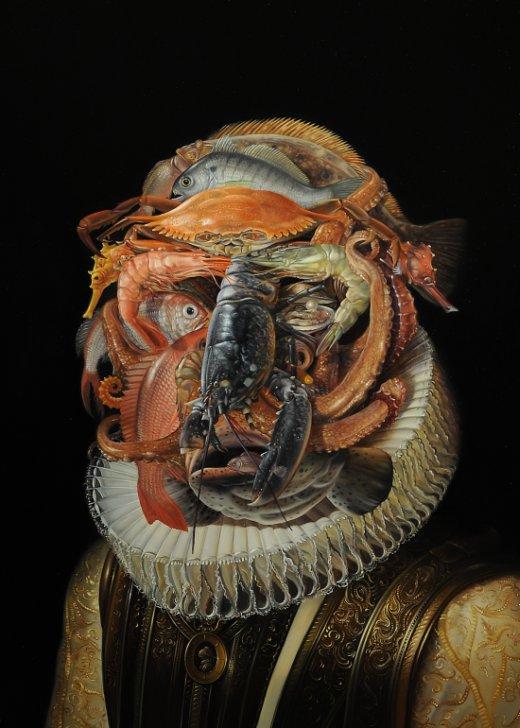 David Michael Bowers pinturas tradicionais a óleo surreais satíricas