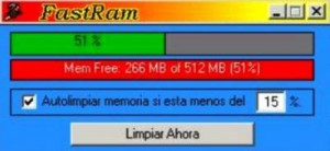 Download Free the memory of your PC with Fast Ram