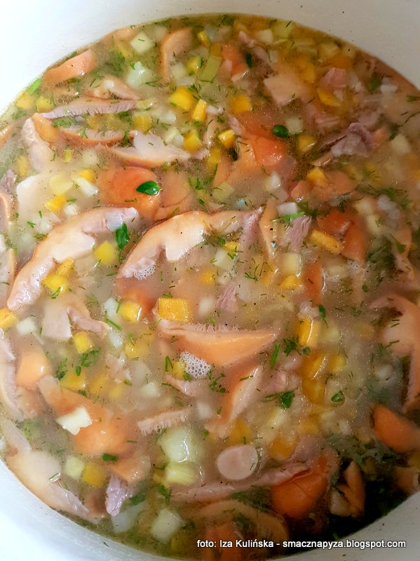 warzywa, kiszone grzyby, zupa z kiszonymi kolpakami, zupa jarzynowo grzybowa, zupa domowa, zupy