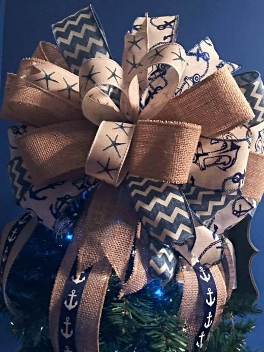 Nautical Tree Top Bow