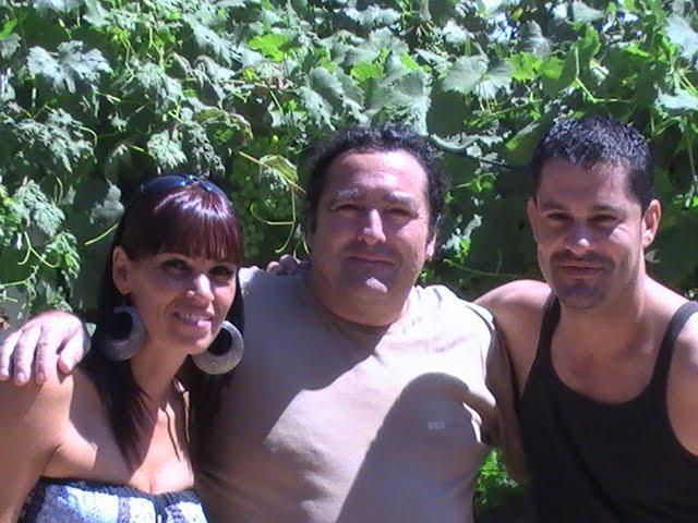 Junto a mis amigos de Canarias Luzma y Toni