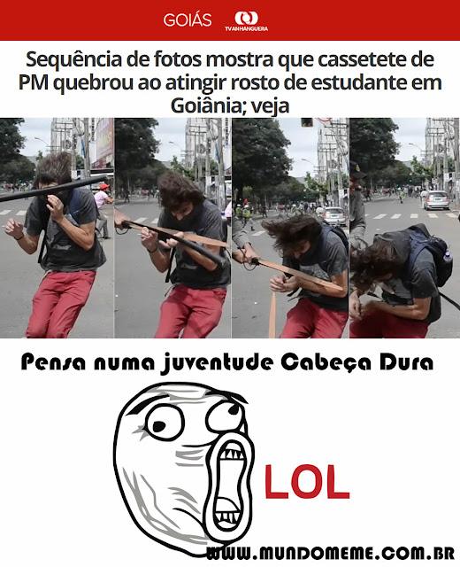 Pensa Numa Juventude cabeça Dura - www.mundomeme.com.br