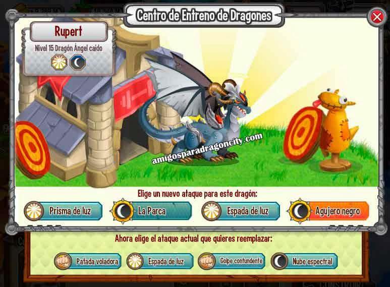imagen de los ataques del dragon angel caido