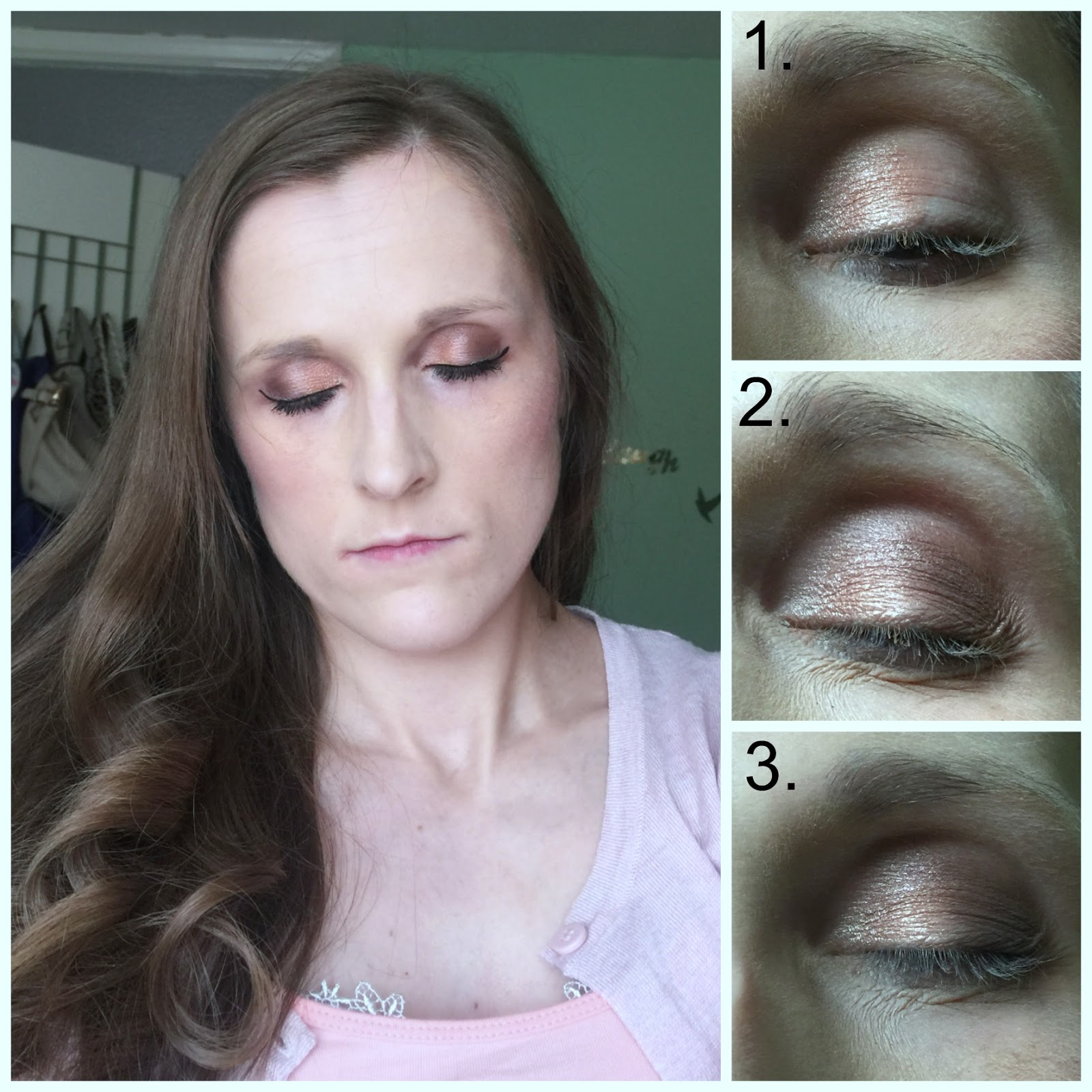 lottie london rose gold eyeshadow palette look divided intentions