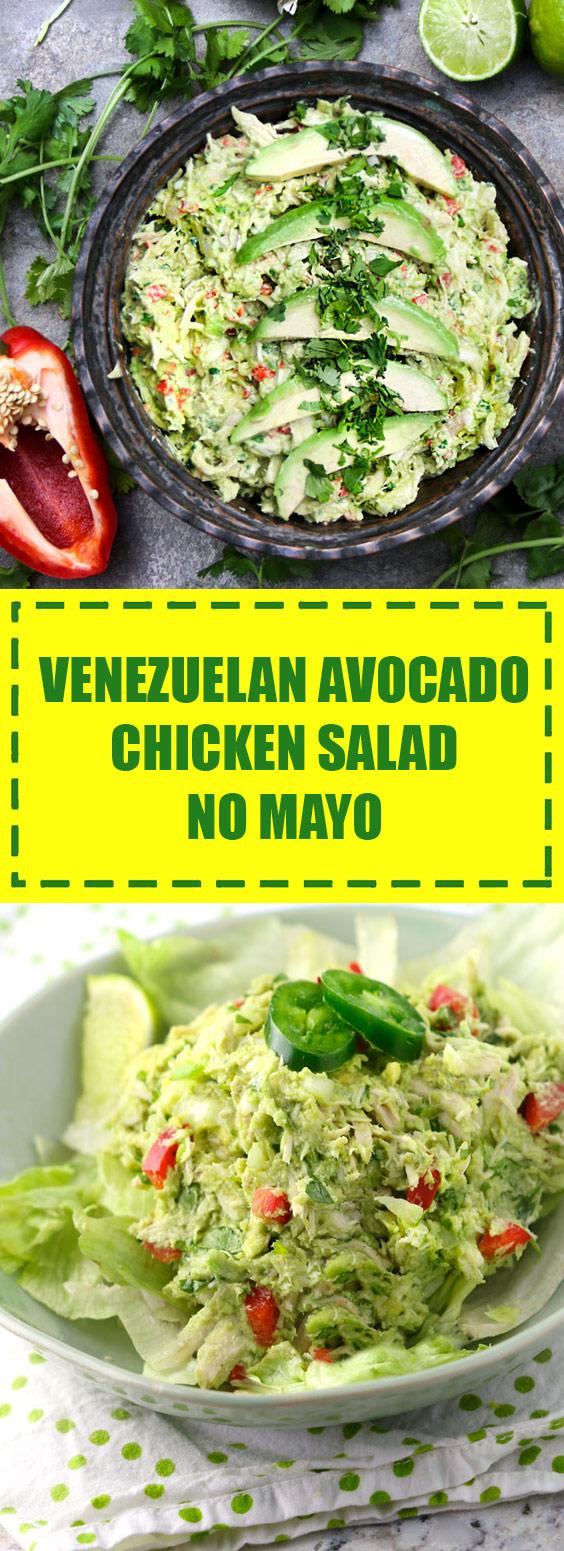 Venezuelan Avocado Chicken Salad (No Mayo)