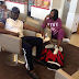Wow! Check out Nollywood Actress Mercy Johnson and her husband at the airport back to Nigeria... photos