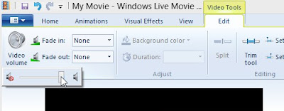 Windows Live Movie Maker Video Volume