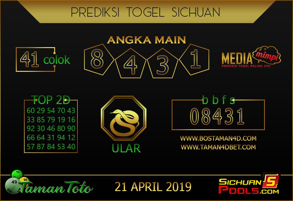 Prediksi Togel SICHUAN TAMAN TOTO 21 APRIL 2019