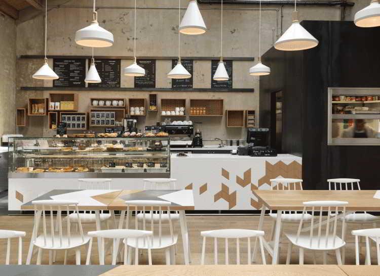 ツ 30 Konsep Desain Interior Cafe Minimalis Outdoor