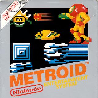 1986, METROID, Portada del cartucho para NES